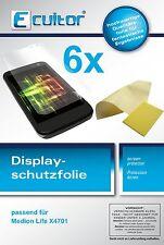 6x Medion Life X4701 Pellicola Prottetiva Transparente Proteggi Schermo
