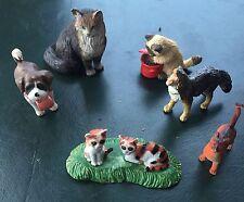 Schleich gatto delle Foreste Norvegesi con altri gatti e cani