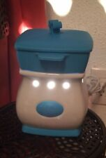 Scentsy Velata Fondue Warmer Curve Blue White With Forks Lid Working Bulb