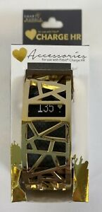 """Smart Buddie Charge HR by Voguestrap Fitbit Cover  1/2"""" Bracelet Skin Gold New"""