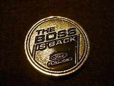 1969 1970 2012 2013 FORD MUSTANG BOSS 302 THE BOSS IS BACK EMBLEM BADGE NICE