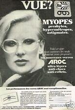 Publicité advertising 1980 Les Lunettes Atol verres Aroc