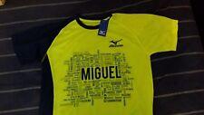 MIZUNO T-Shirt Running, Corsa di Miguel, Taglia S, Colore Giallo Blu, Nuova