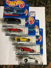 Hot Wheels Ferrari (Lot of 5) Minty cars but Poor cards