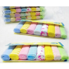 Baby Face Washers Hand Towels Cotton Wipe Wash Cloth 8pcs/Pack FK