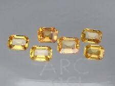 Ceylon Golden Yellow Sapphire VS 4x3mm Octagon 0.24ct Loose Natural Gemstone
