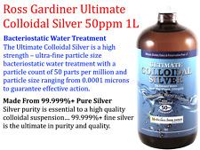Ross Gardiner Ultimate Colloidal Silver 50ppm Colloid 50 PPM 1000ml 1 Litre