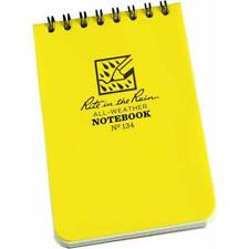 """Rite In The Rain All Weather Waterproof Top Spiral Notepad 3x4.5"""" 134 Yellow"""