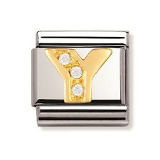 Genuine Nomination Classic Link Charm Letter Y Brand New Stock Clearance rrp £39