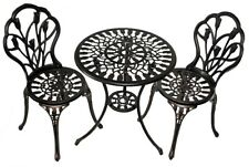 Wrought Iron Patio Set Bistro Table And Chairs 3 Pieces Outdoor Garden Furniture