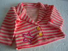 Authentic American Girl Doll 2014 Bright Stripes Jacket