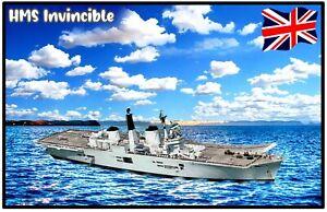 HMS INVINCIBLE - NOVELTY SOUVENIR FRIDGE MAGNET - BRAND NEW / SHIPS / GIFTS