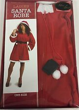 Christmas Ladies Deluxe Santa Robe Gown Dress - 1 Size - Gift Boxed