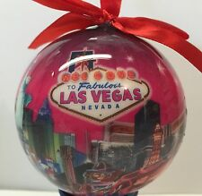 Las Vegas Sign Strip Hotels Casino Christmas Tree Ball Ornament Holiday Pink
