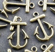 BC22 Perlen Metallperlen Anhänger Charm Anker 5 x Halskette Armband Bronze antik