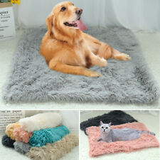 Pet Dog Plush Fluffy Mat Soft Warm Cat Calming Bed Cushion for Kennel Crate S-L