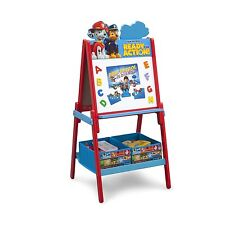 Paw Patrol Activity Easel with Storage Fabric Bins Character Bins Puzzle Letters