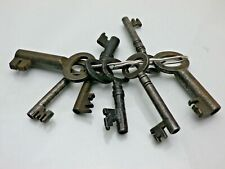 8 Antique Eight Old Steel Door or Drawer Keys Architecture