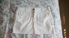 White silvian heach low waist skirt size M