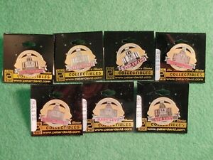 LOT (7) CLASS OF 2001 NFL PRO FOOTBALL HALL OF FAME LAPEL PINS SWANN LEVY
