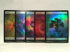 MTG Magic the Gathering Theros Beyond Death Promo Foil Full Art Lands Set