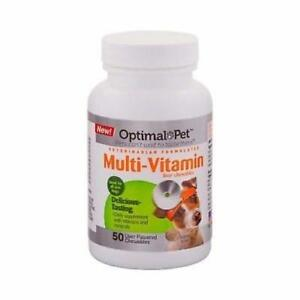 Optimal Pet Dog Multi Vitamin 50 Chewable Tablets