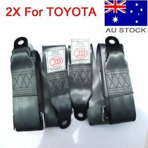 2X Point Car Bus Mpv Universal Passenger Seat Lap Sash Belt Seatbelts For Toyota