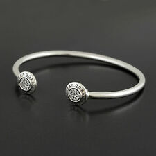 Authentic Genuine Pandora Sterling Silver Signature Bangle 590528CZ