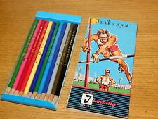 vintage n°183 JUMPING 12 CRAYON de COULEUR color PENCILS france Farbstift CEDRE