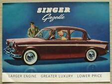 SINGER GAZELLE Car Sales Brochure 1962 #814/H