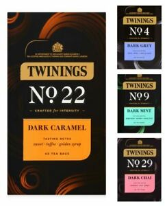 Twinings Herbal Specialty 40 Tea Teas Bags - Dark Caramel / Chai / Grey / Mint