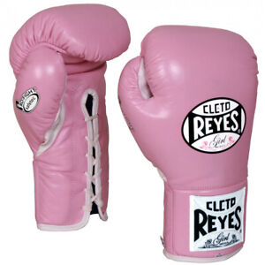 Cleto Reyes Women's Safetec Professional Boxing Fight Gloves - 8 oz. - Pink