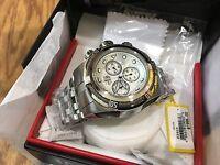23909 Invicta 52mm Bolt Zeus Swiss Quartz Chronograph Silver Dial Bracelet Watch