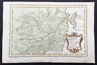 1760 Bellin Antique Map of Manchurian Empire, Mongolia, China, Sakhalin Islands