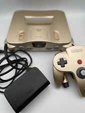 Nintendo 64 Gold N64Digital RGB. Multi Region Cart Slot Recapped Controller PSU