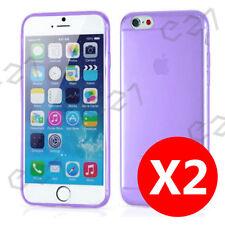 Buy 1 get 1 Free, Ultra Slim Purple iPhone 6 / 6S Gel Case Cover for Apple AU
