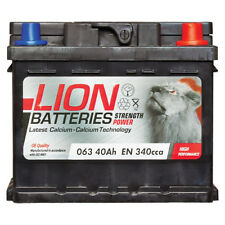 Lion Batteries Car Battery 12V 40Ah Type 063 340CCA Sealed 3 Years Warranty