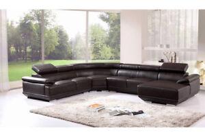 Wohnlandschaft Ecksofa Ledersofa Sofa Couch Polster Sitz Eck Garnitur Neu 3367