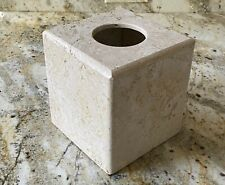 New listing Waterstone Light Travertine Natural Stone Marble Tissue Box Cover Holder Square