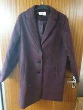 La Redoute Ladies Long Winter Coat Black Size 16