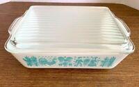 Vintage Pyrex Amish Butterprint Ovenware Casserole Dish 0503 1 1/2qt Lid T937