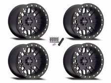 """Method 406 Beadlock UTV 14"""" Wheels Rims Black 14x8 4+4 Yamaha YXZ 1000R"""