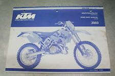 KTM 2003 Spare Parts Manual Handbook Chassis 250 300 MXC EXC OEM 3.208.83