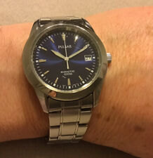 Pulsar Mens Kinetic Watch Blue Face YT57-0AD0 Used Condition. Unboxed.