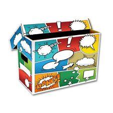 Comic Book Cardboard Storage Box with Comic Strip Artwork, holds 150-175 Comics