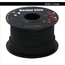 30m 100ft 300lb Black Braided Kevlar Line String for Outdoor Work High Strength