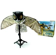 Bird-X Prowler Owl Decoy w/ Flapping Wings OWL*Stand not included*