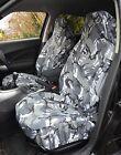 TOYOTA AYGO BLUE Heavy Duty Waterproof Seat Covers Protectors Grey Camo