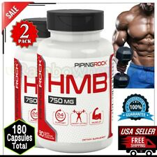 2x HMB 750 mg Lean Ripped MUSCLE Gain Body Building Protein Supplement 180 Caps
