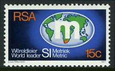 South Africa 497, MI 534, MNH.Introduction of intl. metric system.World map,1977